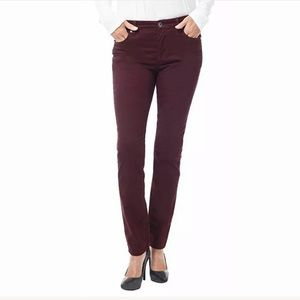 Buffalo David Button Maroon Hope Mid-Rise Skinny 2